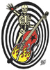 Skeleton Bass Guitar Sticker