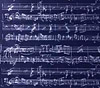 Blue & Silver Sheet Music Gift Wrap