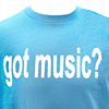 Got Music? T-shirt - Blue