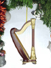 Miniature Harp Ornament with Case