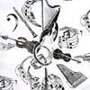 Instruments White Gift Wrap