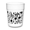 music notes plastic cups