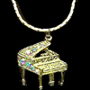 Piano Jeweled Necklace